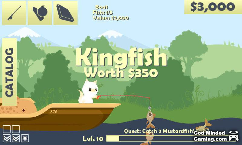 Review cat goes fishing for Fish cat game